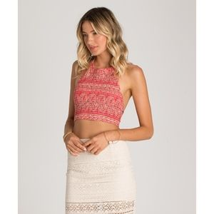 'Late Night' Billabong Halter Crop Top